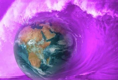 Fiolet Flame Wave
